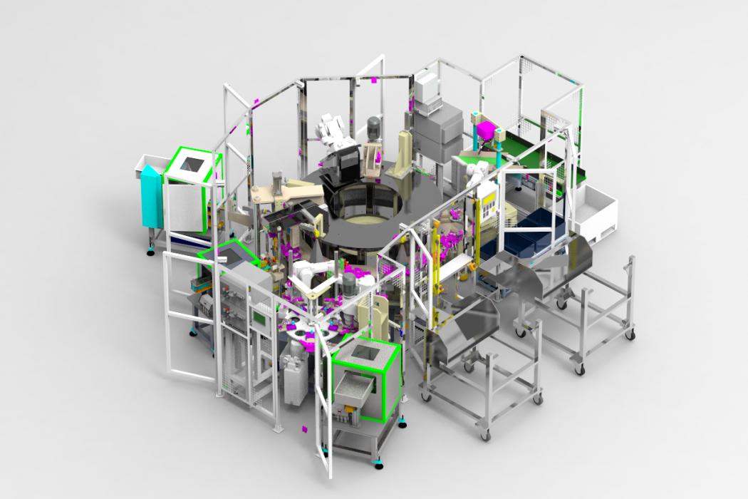 Célula de montaje / Hinges assembly cell