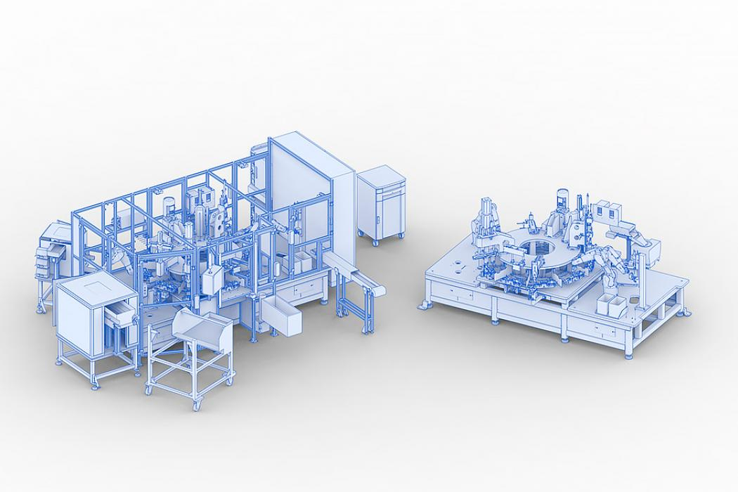 Rotary transfer machine for assembly